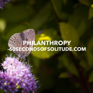 0208: PHILANTHROPY MEDITATION