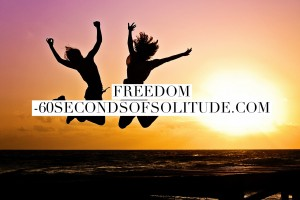 Meditation and Journaling freedom 60 Seconds of Solitude
