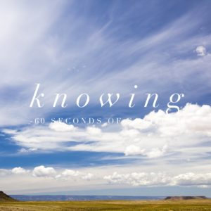 knowing meditation