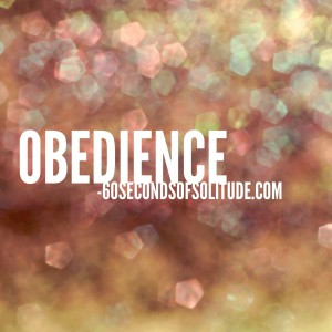 Meditation and Journaling obedience 60 Seconds of Solitude